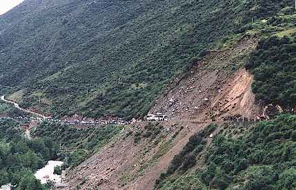 Landslide at Rilong