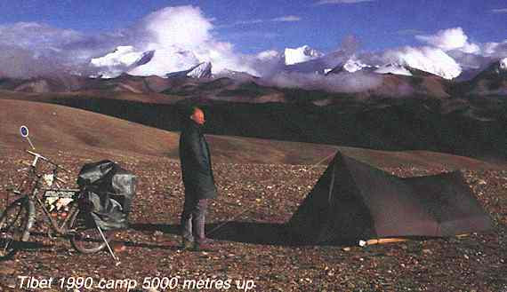 Tibet 1990 camp 5000 metres up