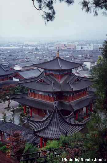 Rooftops from Lion Hill Park, Lijiang, Yunnan