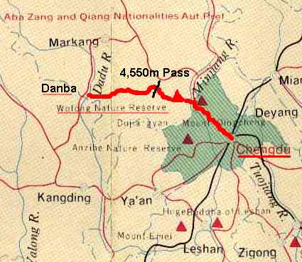 Danba Location Map